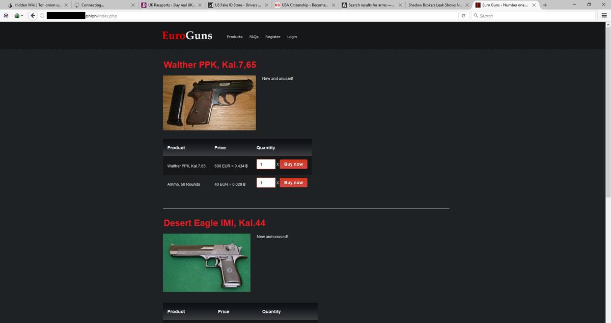 Το εμπόριο όπλων μέσω του Dark Net