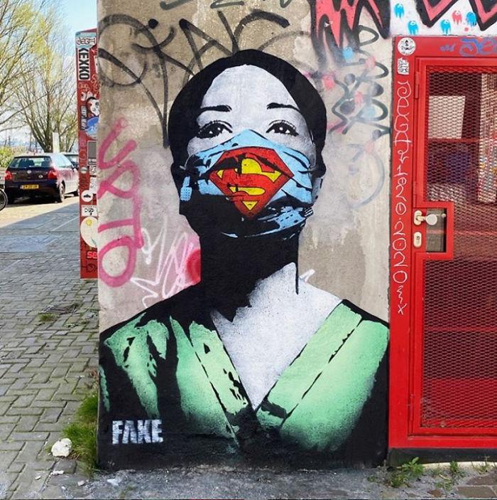 """Ένα παράδειγμα επιτυχημένης εφαρμογής του προτεινόμενου θεωρητικού υπόβαθρου του """"The Street Art Project"""" : Η Street Art στην εποχή της πανδημίας λόγω του ιού """"Covid-19"""""""